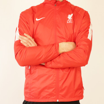 Veste imperméable Liverpool rouge blanc 2020/21