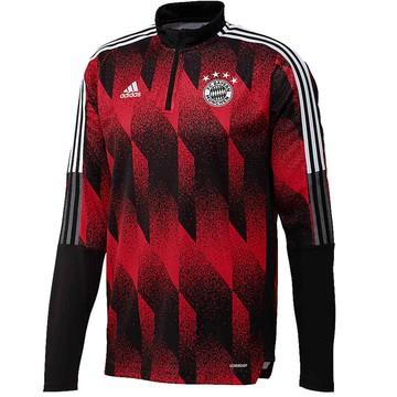 Sweat zippé Bayern Munich rouge noir 2020/21
