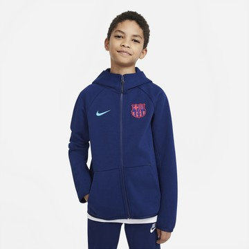 Veste survêtement junior FC Barcelone TechFleece bleu 2020/21