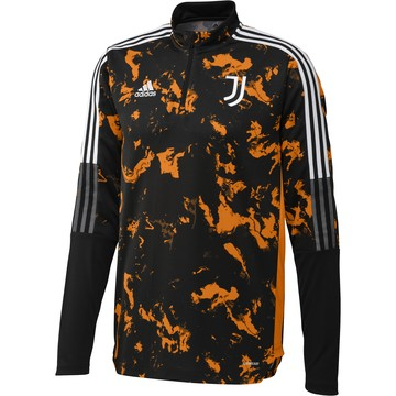 Sweat zippé Juventus AOP noir orange 2020/21