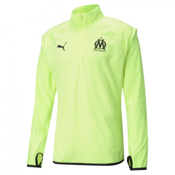 Sweat zippé OM Fleece jaune noir 2020/21