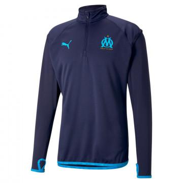 Sweat zippé OM Fleece bleu foncé 2020/21