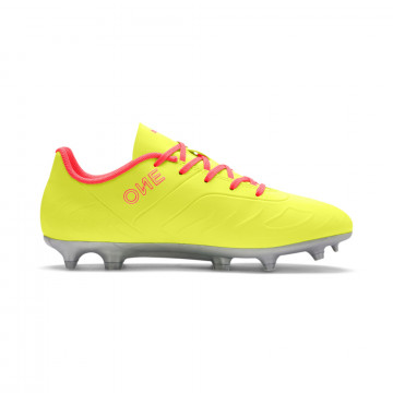 Puma One junior 20.4 FG rose jaune