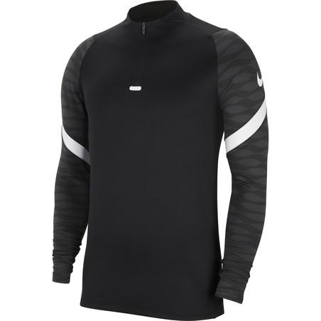 Sweat zippé junior Nike Strike noir blanc