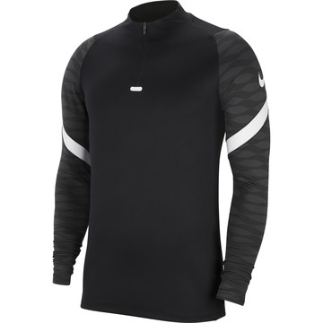 Sweat zippé junior Nike Strike noir blanc