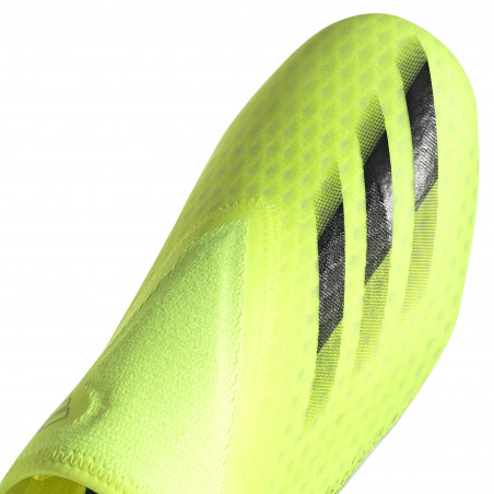 adidas X GHOSTED.3 LaceLess FG jaune sur Foot.fr