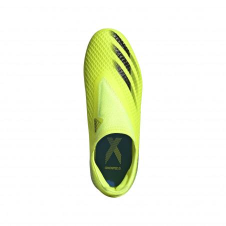 adidas X GHOSTED.3 junior LaceLess FG jaune