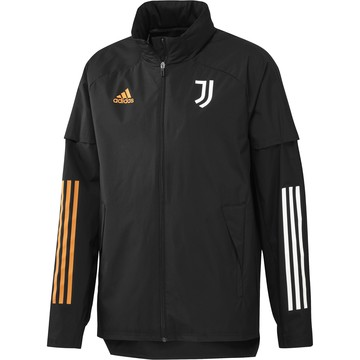 Veste imperméable Juventus noir orange 2020/21