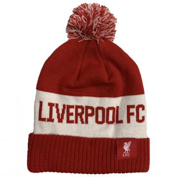 Bonnet à pompon Liverpool rouge blanc 2020/21