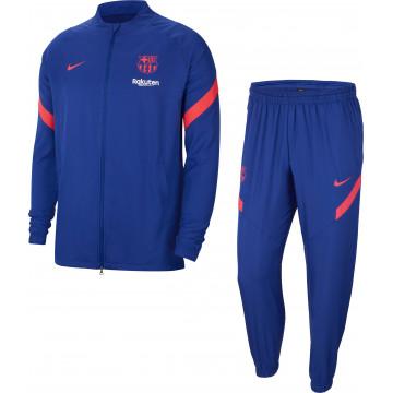Ensemble survêtement FC Barcelone micro fibre bleu 2020/21