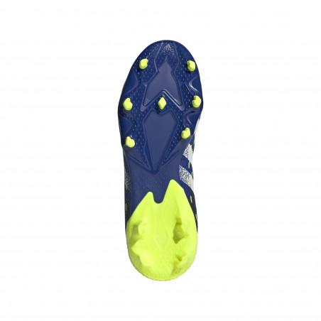 adidas Predator Freak .3 Junior LaceLess FG montante bleu jaune