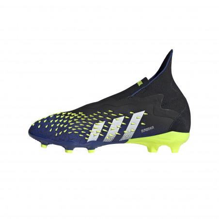 adidas Predator Freak + junior FG montante bleu jaune