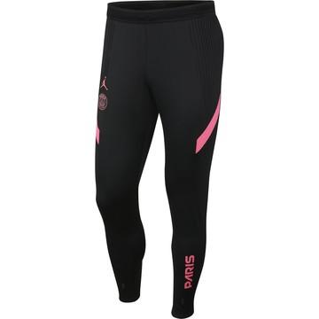 Pantalon survêtement PSG Jordan VaporKnit noir rose 2020/21