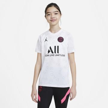 Maillot avant match junior PSG blanc rose 2020/21