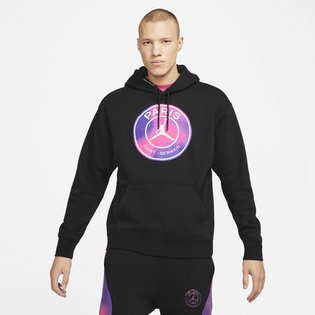 Sweat à capuche PSG Jordan noir violet 2020/21