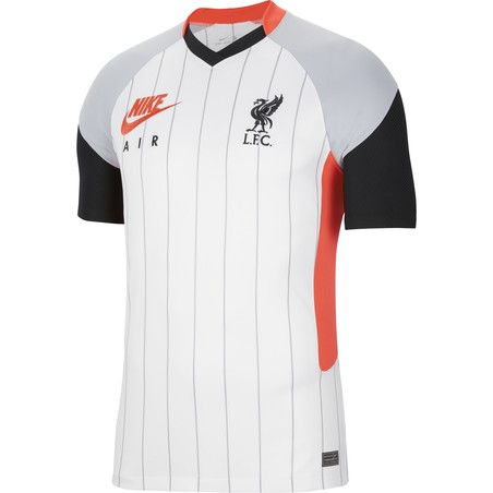 Maillot Liverpool Air Max blanc rouge 2020/21