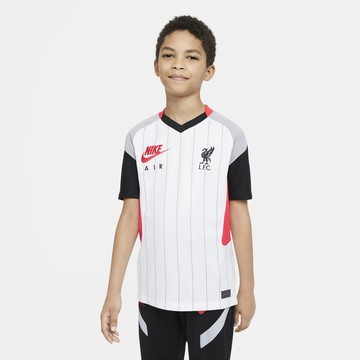 Maillot junior Liverpool Air Max blanc rouge 2020/21