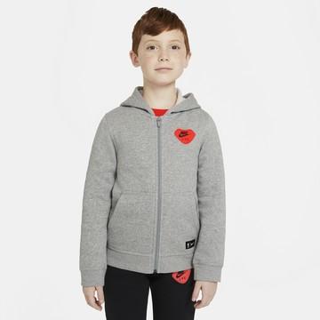 Veste survêtement junior Liverpool gris rouge FZ 2020/21