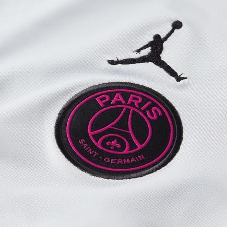 Sweat zippé PSG Jordan gris rose 2020/21
