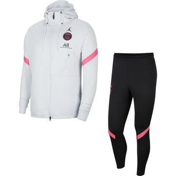 Ensemble survêtement à capuche PSG Jordan gris rose 2020/21