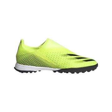 adidas X GHOSTED.3 LaceLess Turf jaune
