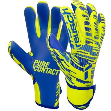 Gants gardien Reusch Pure Contact Silver Junior jaune bleu