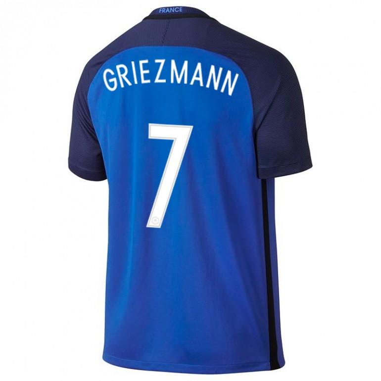 maillot griezmann equipe de france fff domicile bleu 2016 sur. Black Bedroom Furniture Sets. Home Design Ideas