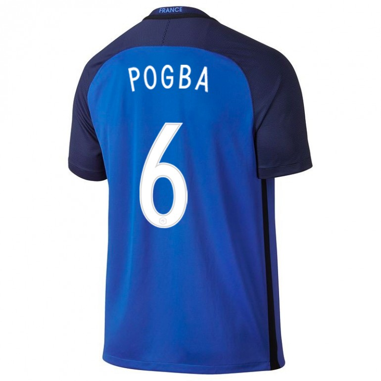 Maillot Pogba Equipe de France FFF domicile Bleu 2016
