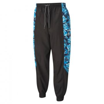 Pantalon survêtement OM TFS microfibre noir bleu 2020/21