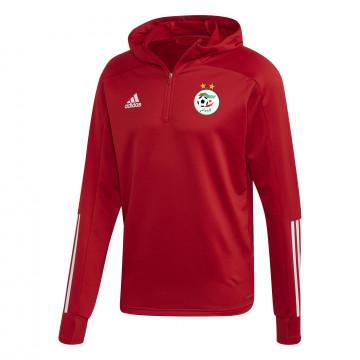 Sweat zippé à capuche Algérie rouge 2020