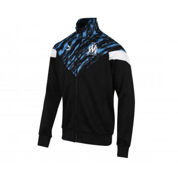 Veste survêtement OM Iconic noir bleu 2020/21