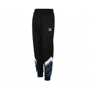 Pantalon survêtement OM Iconic noir bleu 2020/21