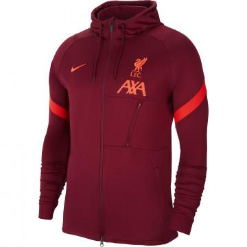 Veste survêtement à capuche Liverpool rouge 2021/22