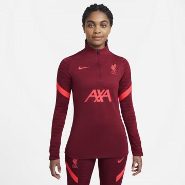 Sweat zippé Femme Liverpool rouge 2021/22