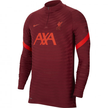 Sweat zippé Liverpool Strike Elite rouge 2021/22