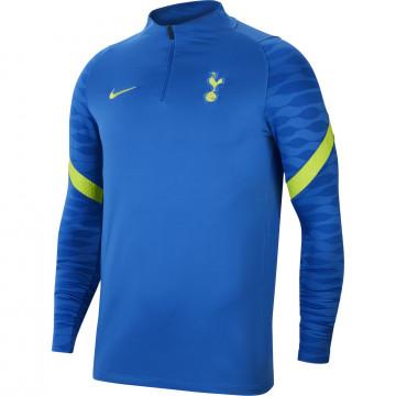 Sweat zippé Tottenham Strike bleu jaune 2021/22