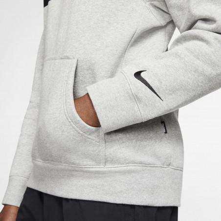 Sweat à capuche Nike F.C. gris