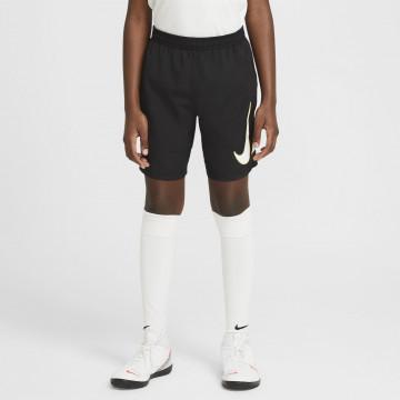 Short entraînement junior Nike Academy GX noir blanc