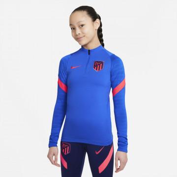 Sweat zippé junior Atlético Madrid Strike bleu rouge 2021/22
