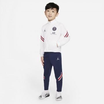 Ensemble survêtement junior PSG blanc bleu 2021/22