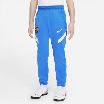 Pantalon survêtement junior FC Barcelone strike bleu blanc 2021/22