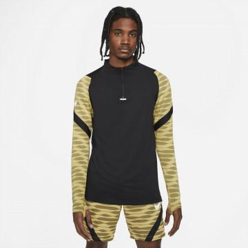 Sweat zippé Nike Strike noir or