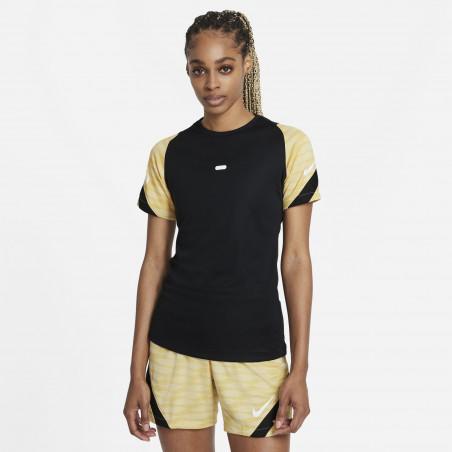 Maillot entraînement Femme Nike Strike noir or