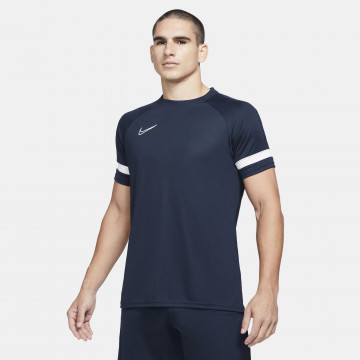 Maillot entraînement Nike Academy bleu foncé blanc