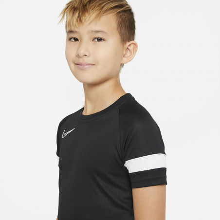 Maillot entraînement junior Nike Academy noir blanc