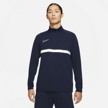 Sweat zippé Nike Academy bleu foncé blanc