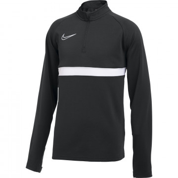 Sweat zippé junior Nike Academy noir blanc