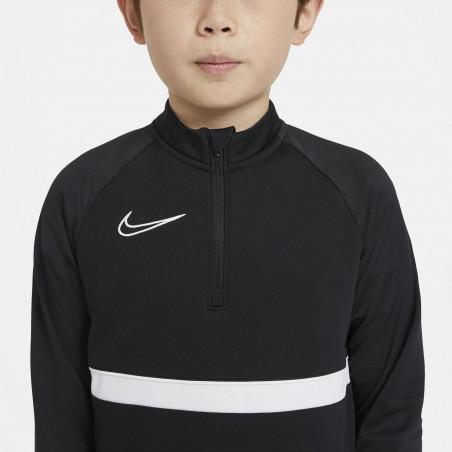 Sweat zippé junior Nike Academy noir blanc