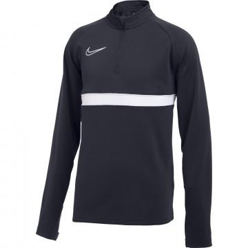 Sweat zippé junior Nike Academy bleu foncé