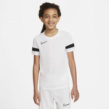 Maillot entraînement junior Nike Academy blanc noir